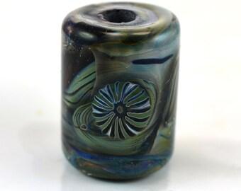 Murrini on Murrini Swirls Large Hole Handmade Glass Lampwork Bead