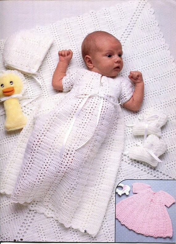 New Baby Knitting Pattern Books : Knitting and Crocheting Pattern Book BABY LAYETTES by KenyonBooks