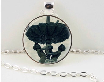 Cherub Fountain Pendant