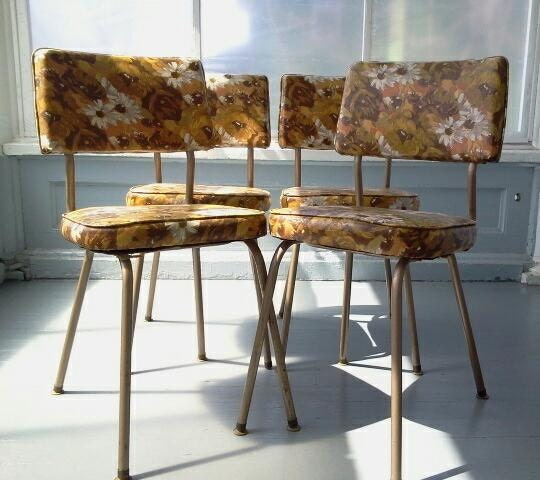 Dinette Chairs For Sale: Sale Vintage Kitchen Chairs Retro 1970's Dinette