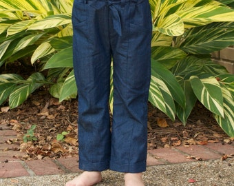 Paper Birch Pants - PDF Sewing Pattern for Children's Pants, Sizes 1 (12mos) - 8