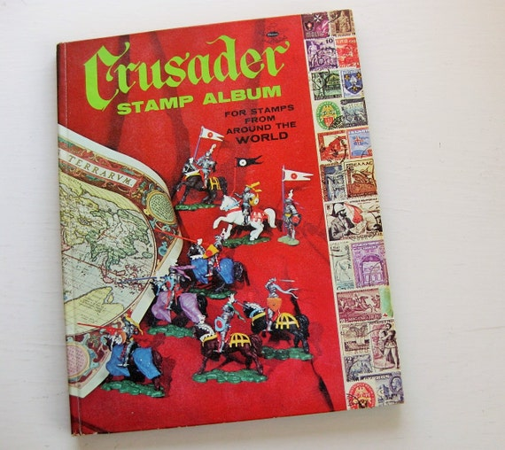 Whitman Crusader Stamp Album: For Stamps From Around the World.  Vintage stamp collecting album