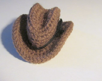 Mini Cowboy Hat - PDF Crochet Pattern INSTANT DOWNLOAD