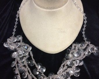 Vintage Chunky Long Dangling Glass Necklace