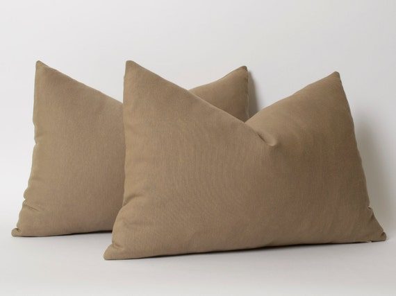 Light Brown Decorative Pillows : Light Brown Decorative Linen Pillow Cover 12x18 inch by pillowme