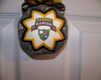 US Army Ranger Quilted Ornament/Army Ranger Patch/Patriotic/Army Ornament/75th RGT/Military Quilted Ornament