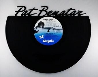 Recycled Vinyl Record PAT BENATAR Wall Art