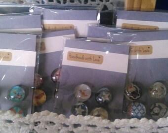 Glass Refrigerator Magnets Handmade Fridge Magnets- Swings