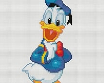 Donald Duck Cross Stitch Pattern-Disney, Mickey and Friends
