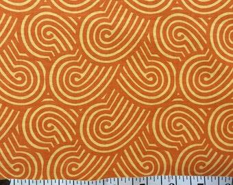 1 yard 100% cotton fabric by Michael Miller in Zen Garden- sherbet