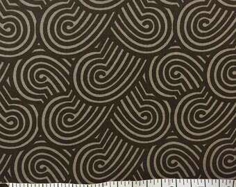 1 yard 100% cotton fabric by Michael Miller in Zen Garden- espresso