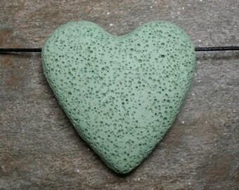 Lava Stone Bead - Pendant - Seafoam Green -  Item 71063