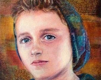 CUSTOM portrait painting, child portrait, adult portrait on canvas, family portrait, Acrylic painting, custom portrait from photo