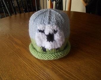 Cute Big Sheep Hat in Green and Blue