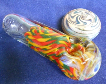 Super Thick Spoon Pipe With Wig Wag Disk