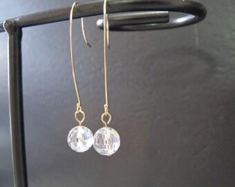 Cubic Zirconia Gold Earrings
