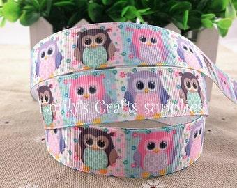 "7/8"" Owl Ribbon"