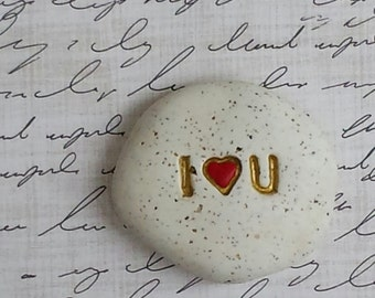 I love you message stones, gift for him, gift for her, symbol of love, I heart u, I Love You, love pocket stones