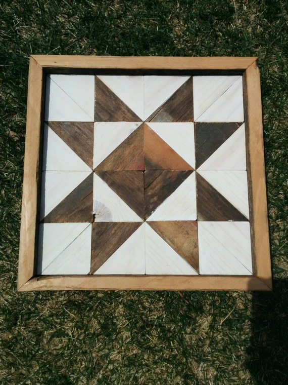 Wooden Quilt Block by goatsoverthemoon on Etsy