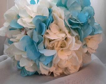 Bridesmaid's Bouquet, Hydrangea Bouquet, Wedding Bouquet,  Silk Bouquet, Brides Bouquet