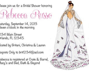 Classic Bride-to-Be Bridal Shower Invitation