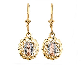 Items Similar To Antique Brass Catholic Medal Earrings