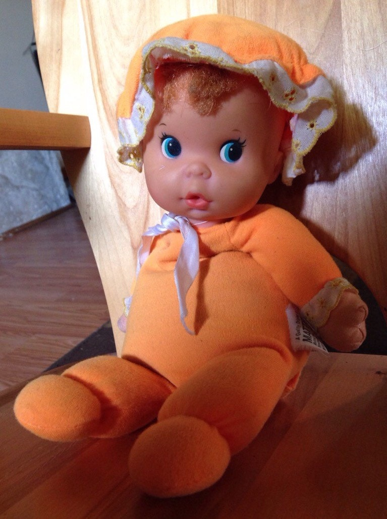 Vintage Mattel Baby Beans Doll Orange 1974 Cloth By