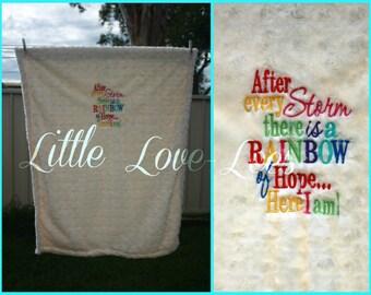 Rainbow of hope blanket