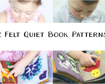 2 Felt Quiet Book Patterns//ABC Boy and Girl Quiet Book Patterns
