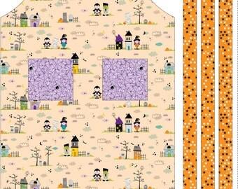 Apron Panel Halloween Magic by Bella Blvd. for Riley Blake Panel Orange