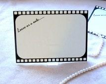 Movie Film Reel Guest Book Cards (10), Movie Guest Book Alternative, Movie Wedding Advice, Bridal Shower words of wisdom, Film Note Cards