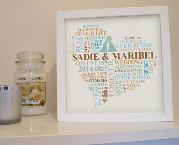 Wedding Gifts For Gay Female Couples : gay wedding print. Female couple. Personalised lesbian wedding gift ...