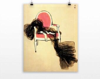 Rene Gruau illustration - Fine art print - i001