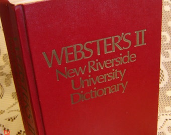 Webster's II New Riverside University Dictionary, 1984