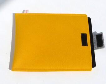 Felt iPad Sleeve, Yellow iPad Cover, Felt iPad Case