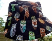 MAGESTIC OWLS a beautiful One of a Kind Gardening Bucket Hat Adult Size Medium