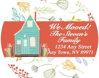 Address Labels - We Moved Return Address Labels -  Personalized Stickers, Shipping Labels