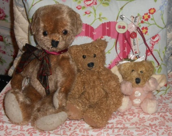 Teddy bear collection the three bears are shabby chic vintage collectable bears in excellent condition