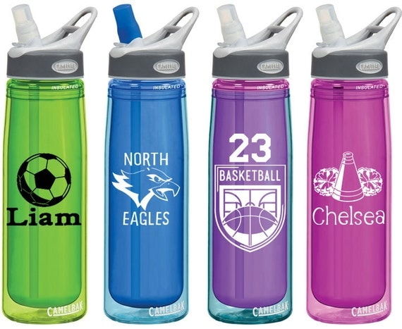 Sports Team Decals For Personalized Water Bottles Or Car