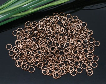 100 Open Copper Jump Rings - 8MM
