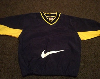 Vintage Youth Kids Navy Nike Air Michael Jordan Pullover Jacket Sz S