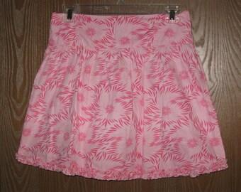 """Girls XG 14/16 (30"""" Waist) George Pink Floral Skirt A Line"""
