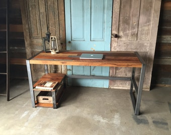 Reclaimed Wood Desk, Patchwork Desk
