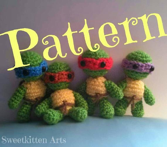 PDF Ninja Turtles Amigurumi Crochet Pattern