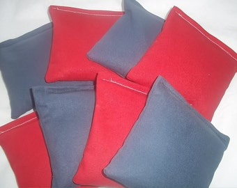 8 ACA Regulation Cornhole Bags - 4 Red and 4 Royal Blue