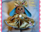 Handmade Primitive Easter Bunny with Floppy Ears. Free Shipping Use Code WINTER2015