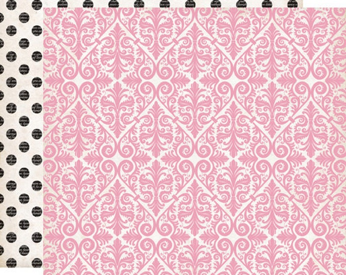 2 Sheets of Echo Park Paper YOURS TRULY 12x12 Valentine's Day Scrapbook Paper - Adore