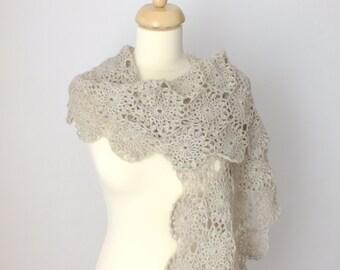 Crochet Shawl Pattern, Crochet Scarf Pattern, Alpana