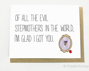 Funny Mother's Day Card for Stepmother - Card for Stepmom - Stepmother Card - Evil Stepmother.