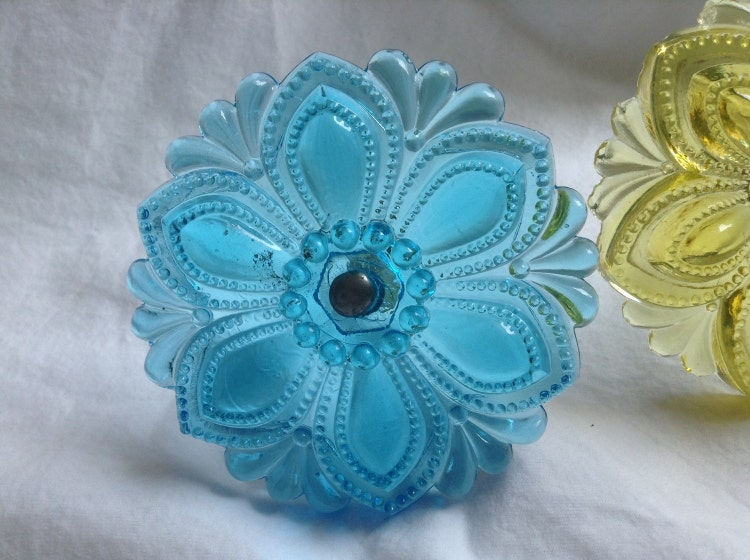 Antique Sandwich Glass Curtain Tie Backs By Trippingontime On Etsy